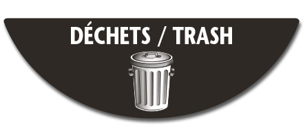 Déchets / trash label (bilingual)