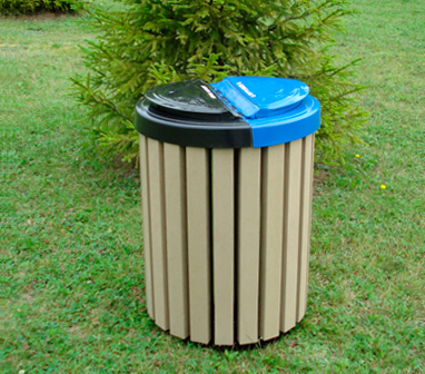 eco-responsibility outdoor garbage container waste collection reuse waste container compost bin  conservation of waste receptacles recycle garbage containers trash containers extend the life of waste containers garbage and recycle bin lid recycling montreal garbage and recycling bins lid